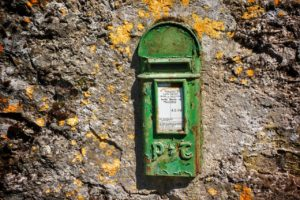 old irish post box
